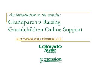 An introduction to the website: Grandparents Raising  Grandchildren Online Support