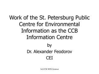 by  Dr. Alexander Feodorov CEI