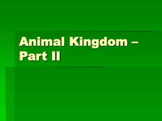 Animal Kingdom – Part II