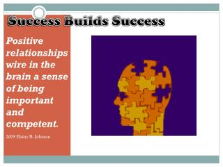 Success Builds Success