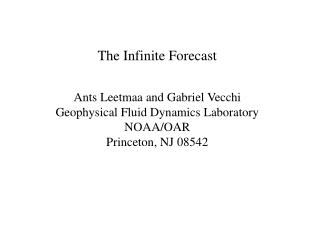 The Infinite Forecast