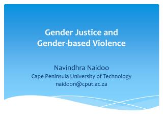 Gender Justice and  Gender-based Violence