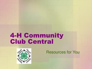 4-H Community Club Central