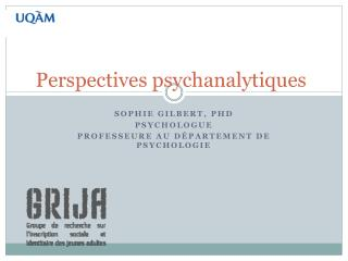 Perspectives psychanalytiques