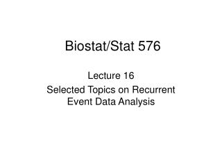 Biostat/Stat 576