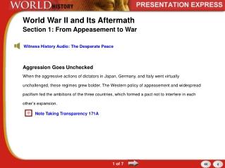 Title: World War I  Its Aftermath