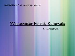 Wastewater Permit Renewals