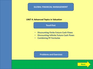 GLOBAL FINANCIAL MANAGEMENT