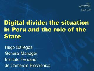 Digital divide: the situation in Peru and the role of the State