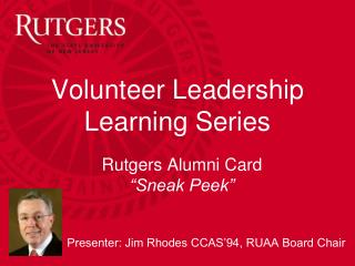 "Rutgers Alumni Card  ""Sneak Peek"""