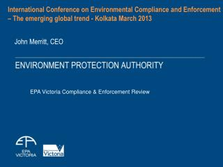 EPA Victoria Compliance & Enforcement Review