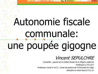 Autonomie fiscale communale:  une poupée gigogne