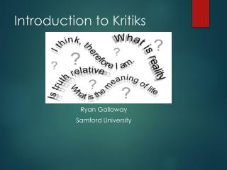 Introduction to  Kritiks