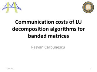 Communication costs of LU decomposition algorithms for banded matrices