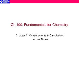 Ch 100: Fundamentals for Chemistry
