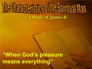 """When God's pleasure means everything"""