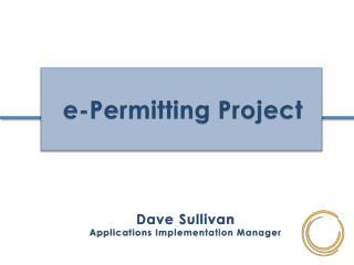 e-Permitting Project