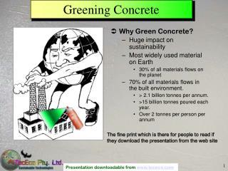 Greening Concrete