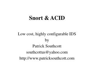Snort  ACID