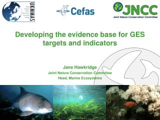 Developing the evidence base for GES targets and indicators