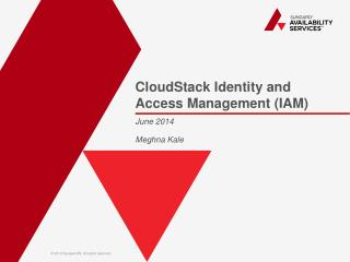 CloudStack  Identity and Access Management (IAM)
