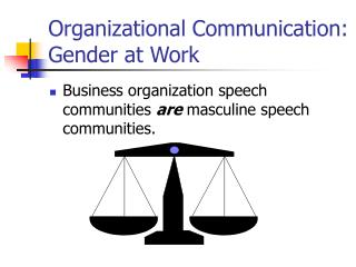 Organizational Communication: Gender at Work