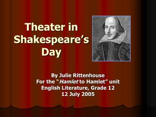Theater in Shakespeare's Day