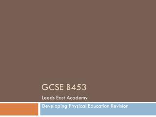 GCSE B453