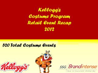Kellogg's Costume Program Retail Event Recap 2012