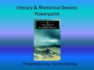 Literary  &  Rhetorical  Devices  Powerpoint