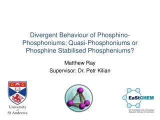 Matthew Ray Supervisor:  Dr. Petr Kilian