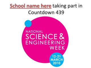 School name here  taking part in Countdown 439