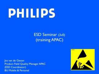 ESD Seminar  (3v0) (training APAC)