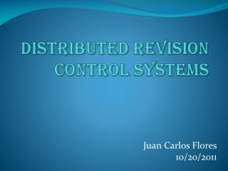 Distributed revision control systems