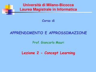 Universit  di Milano-Bicocca Laurea Magistrale in Informatica