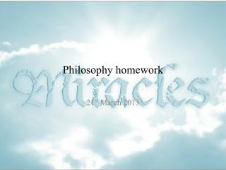 Philosophy homework