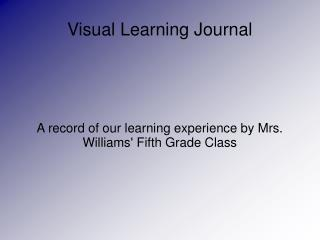Visual Learning Journal