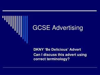 GCSE Advertising