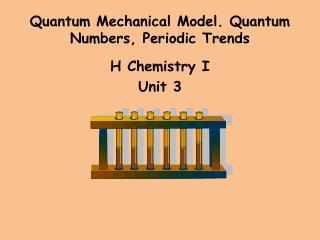 Quantum Mechanical Model. Quantum Numbers, Periodic Trends