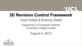 3D Revision Control Framework