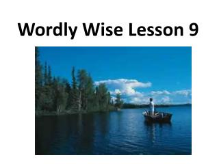 Wordly  Wise Lesson 9