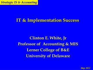 IT & Implementation Success