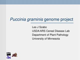Puccinia graminis  genome project