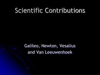 Scientific Contributions