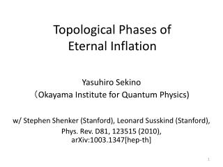 Topological Phases of  Eternal Inflation