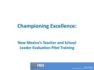 Championing Excellence: