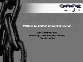 Portfolio Committee On Communication