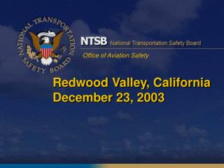 Redwood Valley, California December 23, 2003