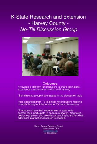 K-State Research and Extension - Harvey County - No-Till Discussion Group
