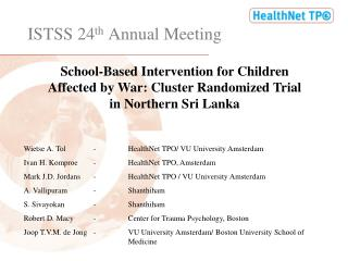ISTSS 24 th  Annual Meeting